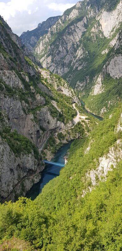 Piva river in Montenegro