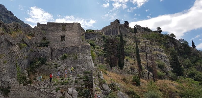 Kotor City Walls in Montenegro