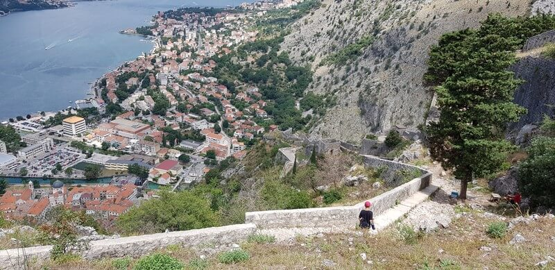 Hiking the City Walls of Kotor in Montenegro
