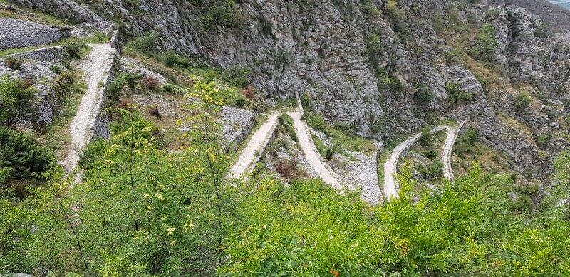 Ladder of Kotor in Montenegro
