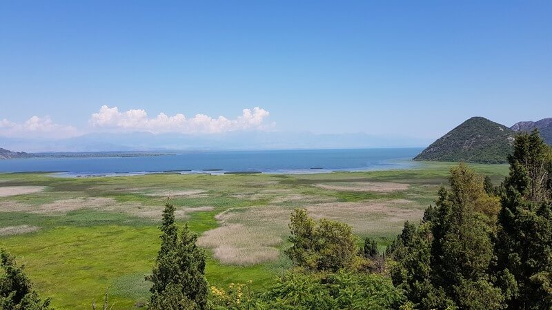 View of Lake Skadar from Besac Fortress