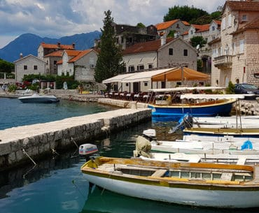 The picturesque town of Perast on the Bay of kotor in Montenegro