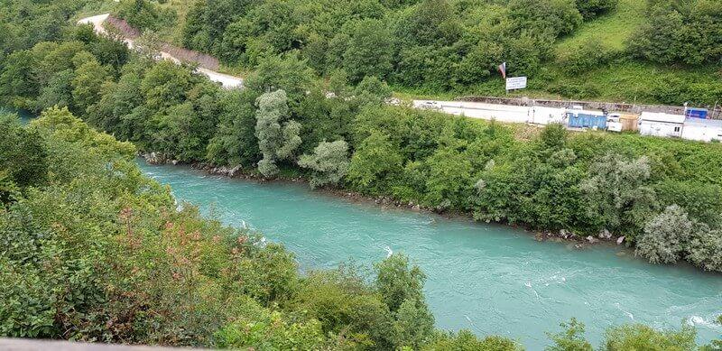 Tara River at Scepan Polje in Montenegro