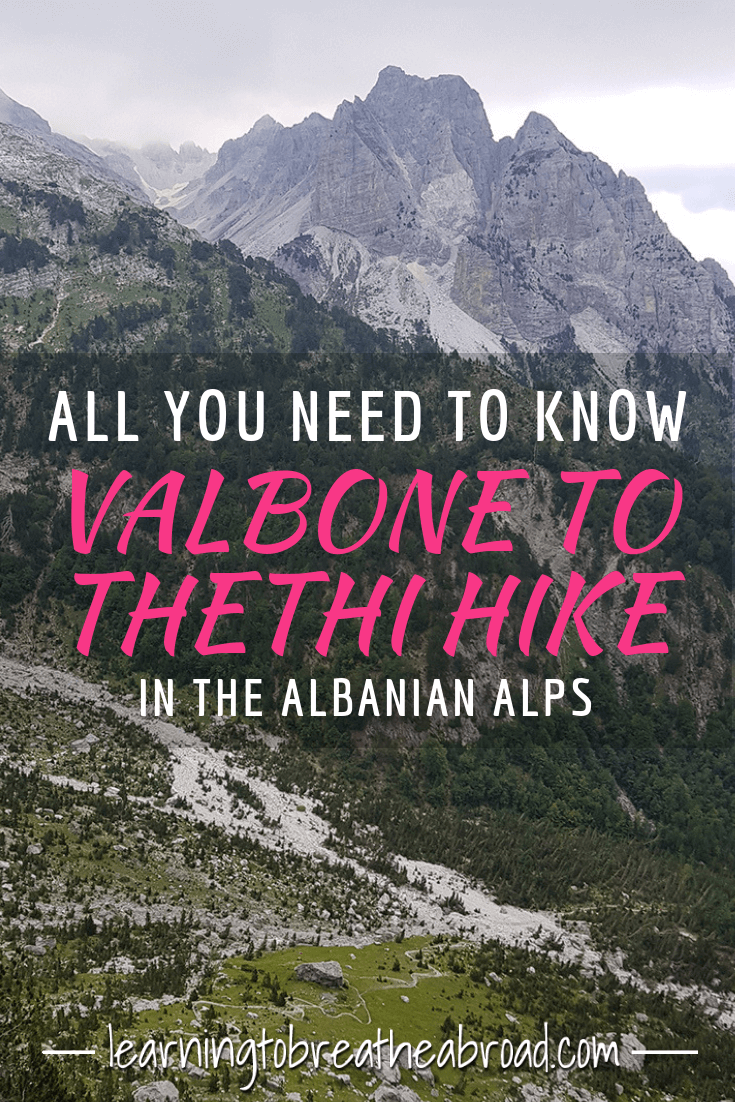 A comprehensive guide telling you all you need to know about the Valbone to Thethi hike in the Albanian Alps, including a ferry trip on Lake Komani. How to get there, details of the hike and ferry, road conditions, costs and more. Hiking in Albania | Things to do in Albania | Hikes in Albanian Alps #valbonethethihike #albania #albanianalps