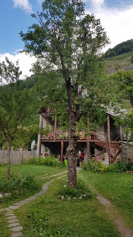 Valbone to Thethi hike: Valbone guesthouse garden