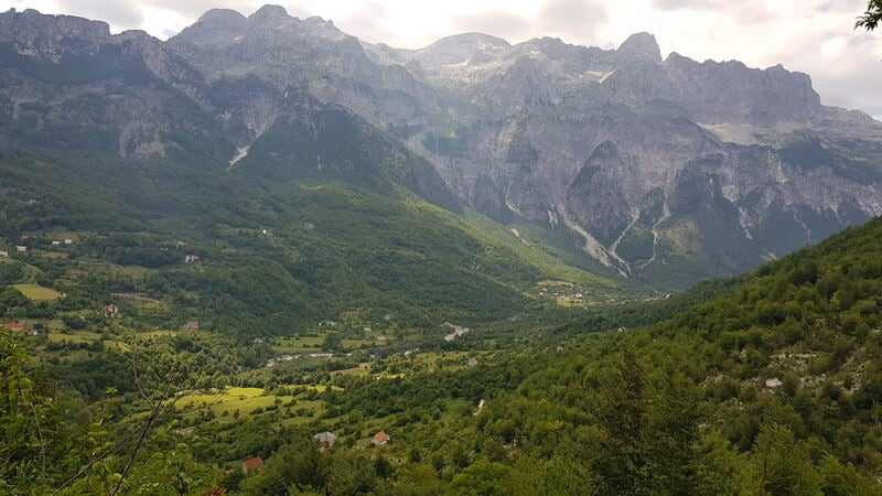 Valbone to Thethi hike: Thethi Valley in Albania