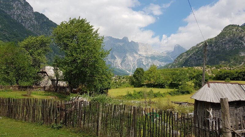 Valbone to Thethi hike: Thethi Village