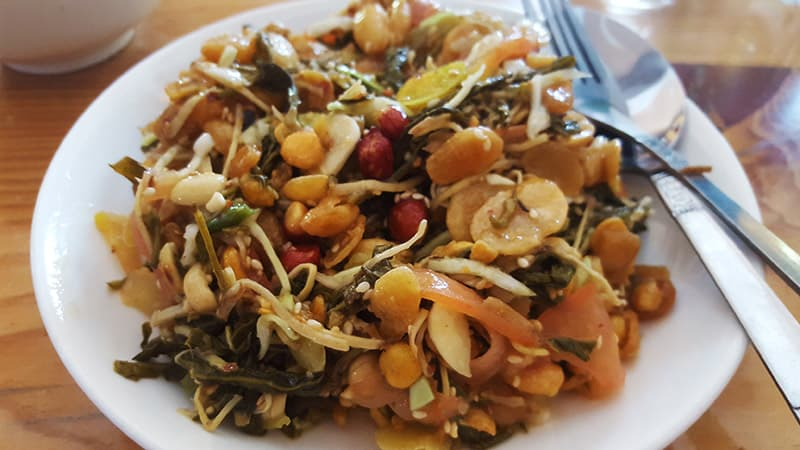 Local Burmese ginger and nut salad