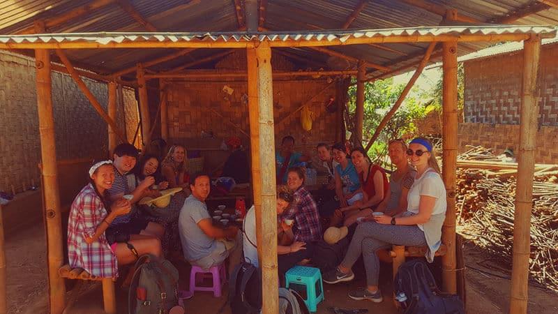 Trekking from Kalaw to Inle Lake: Tea stop at Shan Village