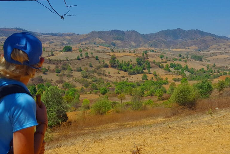 Trekking from Kalaw to Inle Lake in Myanmar