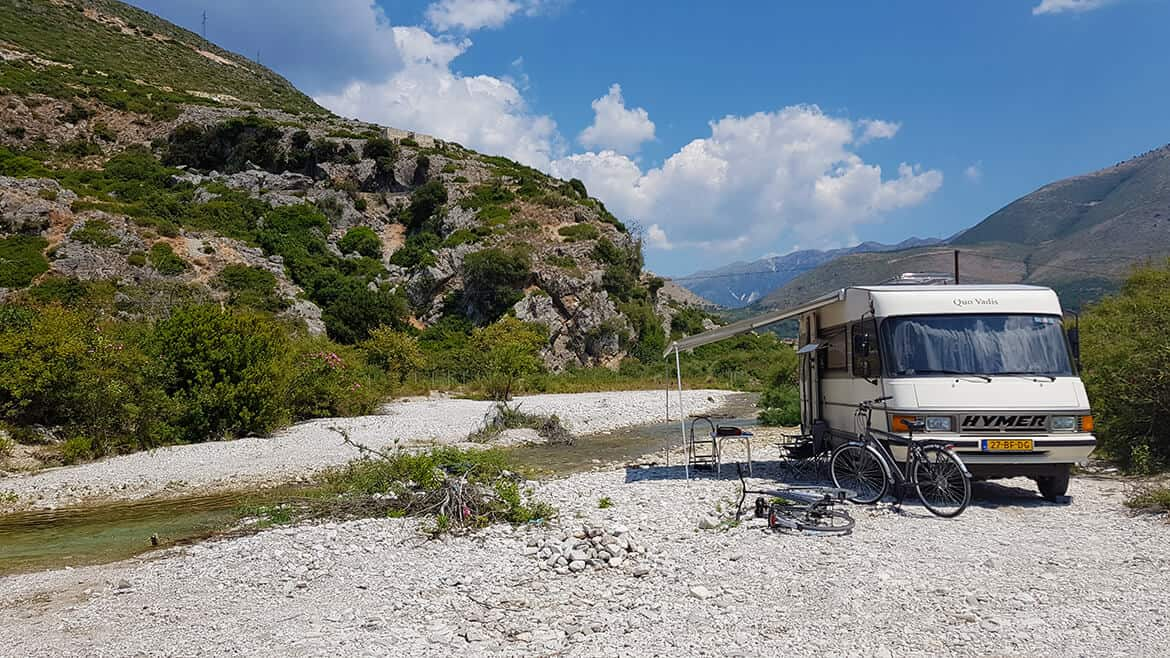 Wild Camping in Albania: Borsch Beach on the river