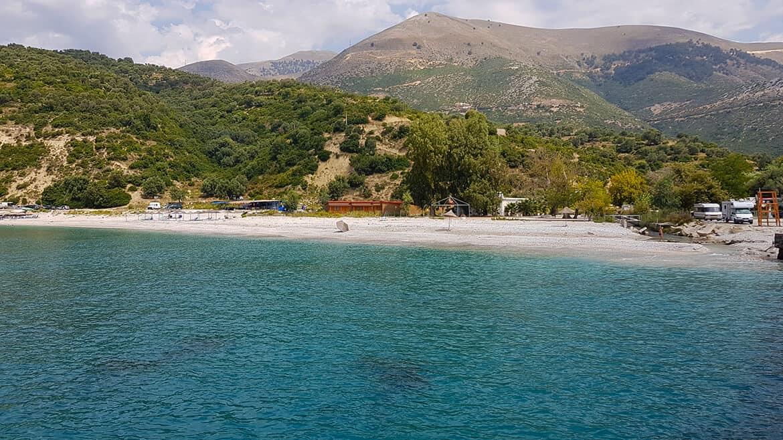 Wild Camping in Albania: Bunec Beach camping