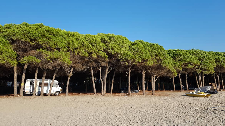 Wild Camping in Albania: Durres Beach