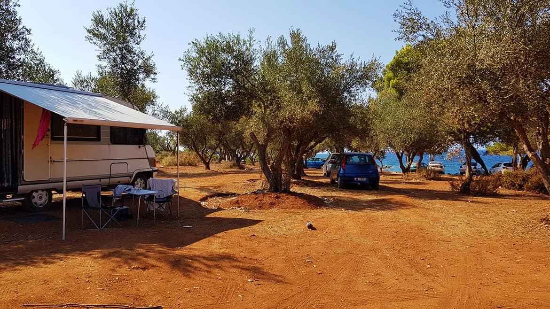 Wild Camping in Albania: Ksamil Beach