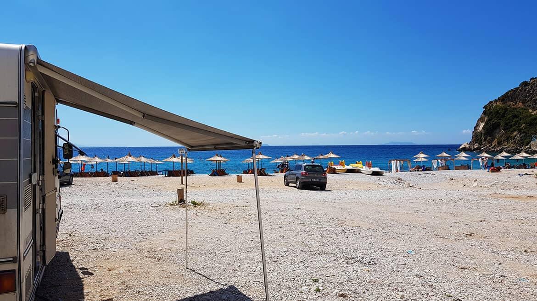 Wild Camping in Albania: Livahdi Beach