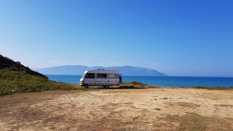 Wild Camping in Albania: Zvernec, Narte Nature Reserve