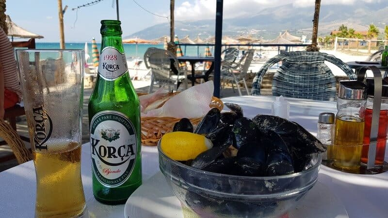 Things to do in Albania: Eat seafood & drink local beer
