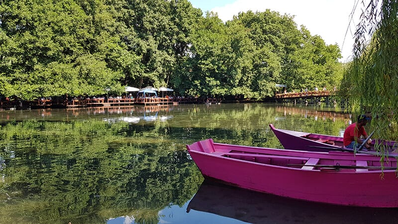 Things to do in Albania: Hire a rowing boat at Drilon Springs