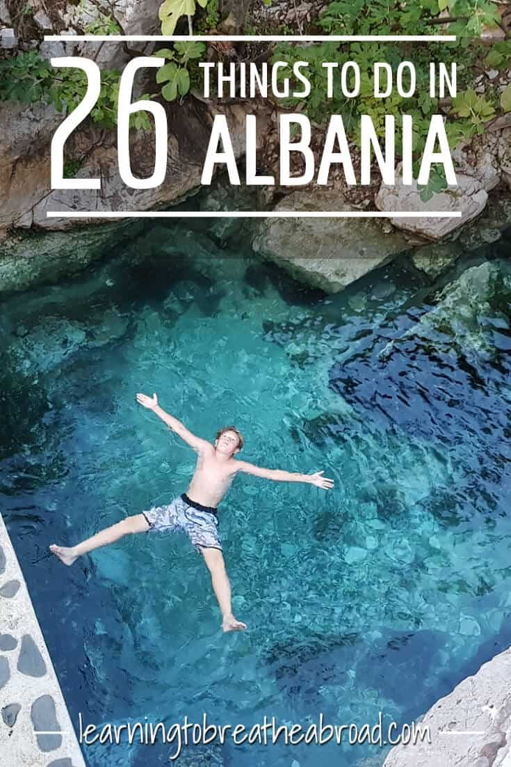 Albania has everything - mountains, beaches, crystal clear water, hot springs, turquoise rivers and more. This is a massive list of 26 awesome things to do in Albania. This travel guide to Albania will show you where to go, what to see, where to stay, what to eat and what tours to take. #albania #travel #ThingsToDoIn #albanianriviera #balkanstravel