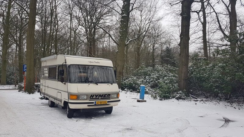 Campervan stop near Antwerp