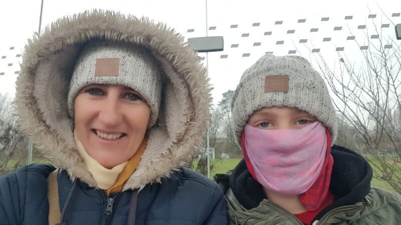 Paris for a day - Bundled up against the cold