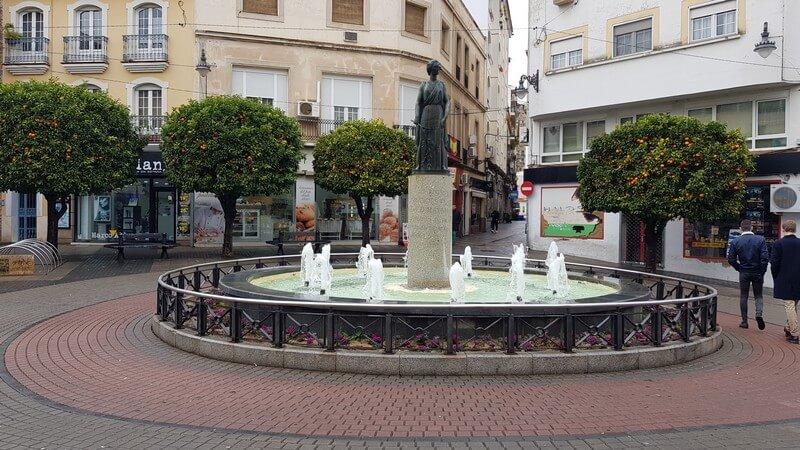 Merida Spain: Orange trees in town