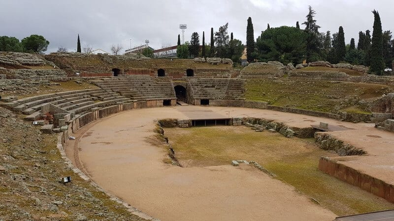 Roman Ruins in Merida Spain: Roman Amphitheater