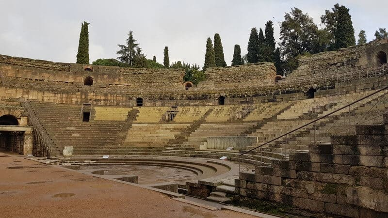 Roman Ruins in Merida Spain: 6th Century Roman Amphitheater
