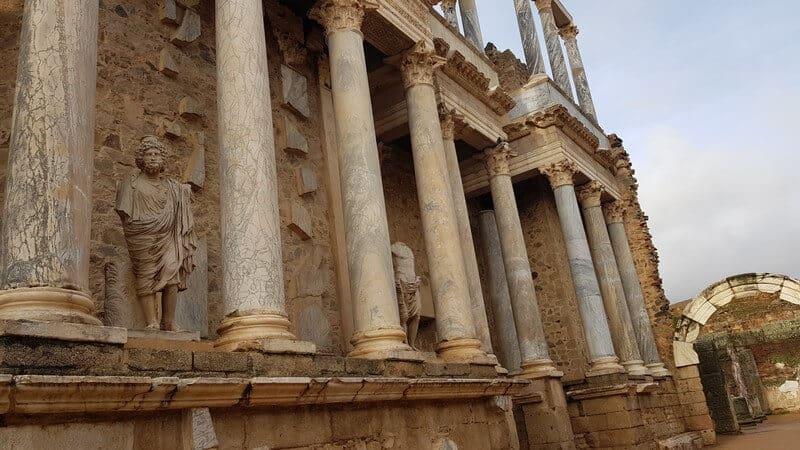 Roman Ruins in Merida Spain: Roman theatre