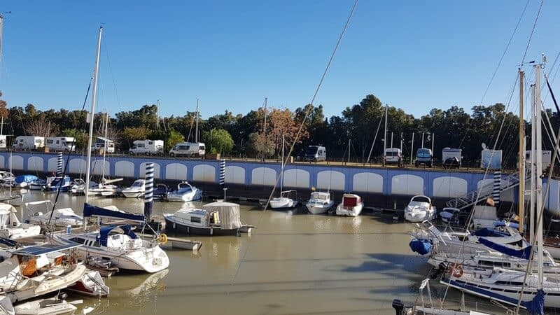Things to see in Seville: Port Gelves Campervan stop