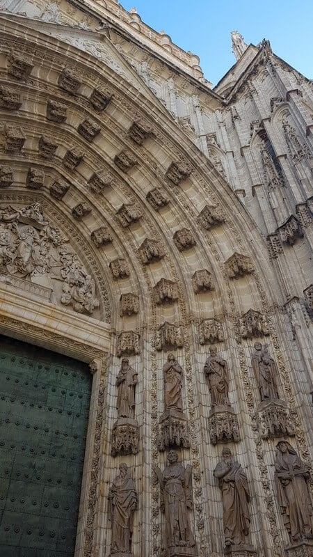 Things to see in Seville: Seville Cathedral ornate porticos