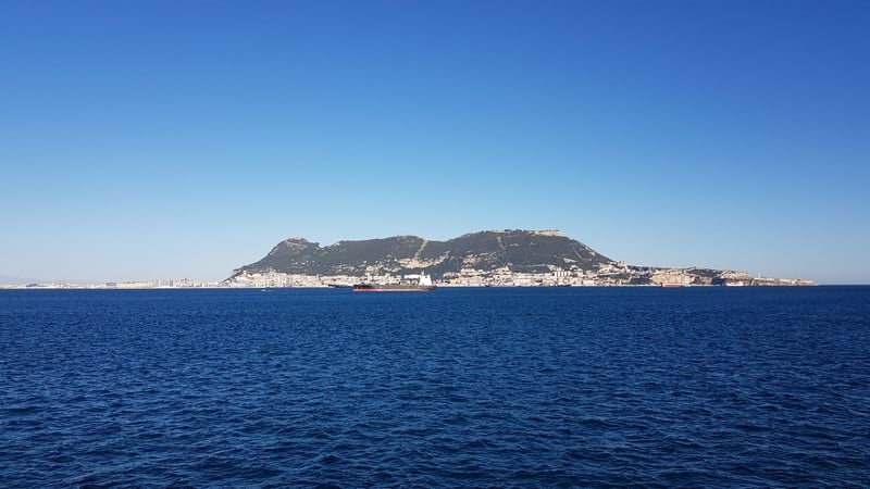 Algeciras to Morocco: View of Gibraltar