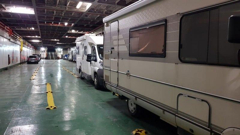 Algeciras to Morocco: Miles inside the ferry