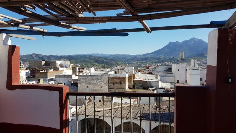 Rooftop view over Tetouan in Morocco