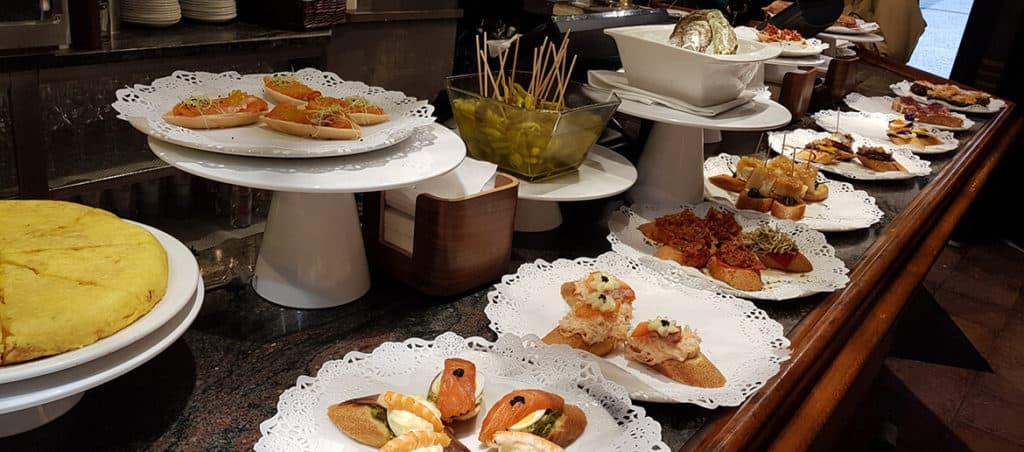 A feast of pintxos in San Sebastian in Spain