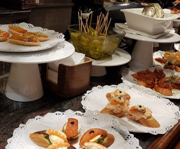 A feast of pintxos in San Sebastian in Spain