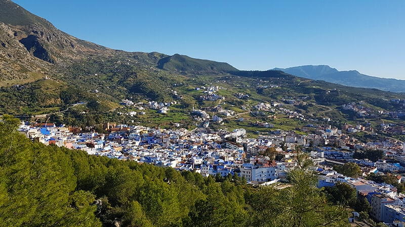 Chefchaouen town from above