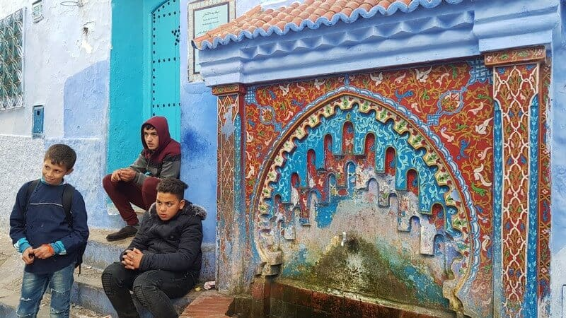 Drinking fountain in Chefchaouan Morocco