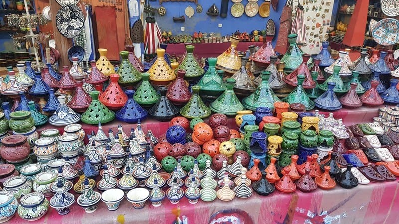 Chefchaouan - tagines to buy
