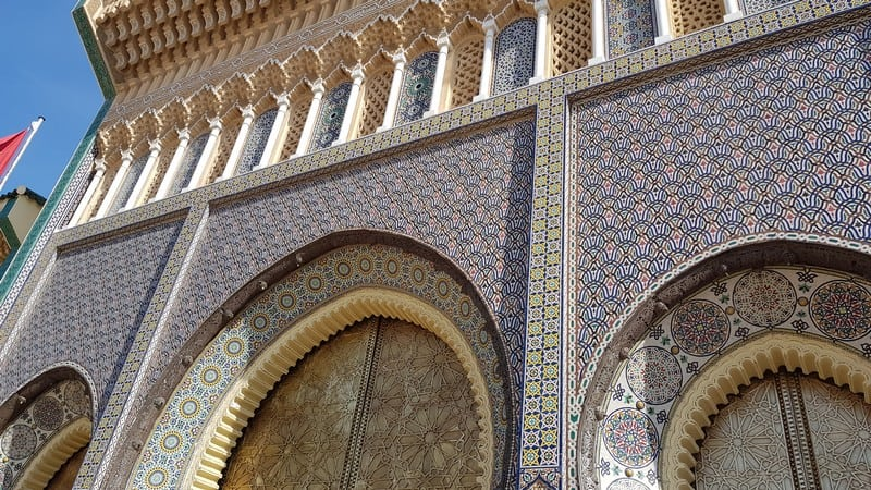 Fes, Morocco: Royal Palace: Royal gates