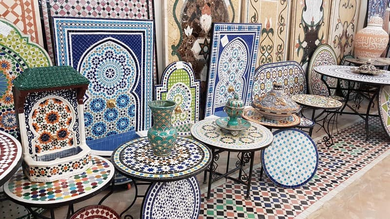 Mosaic Factory in Morocco: Mosaics