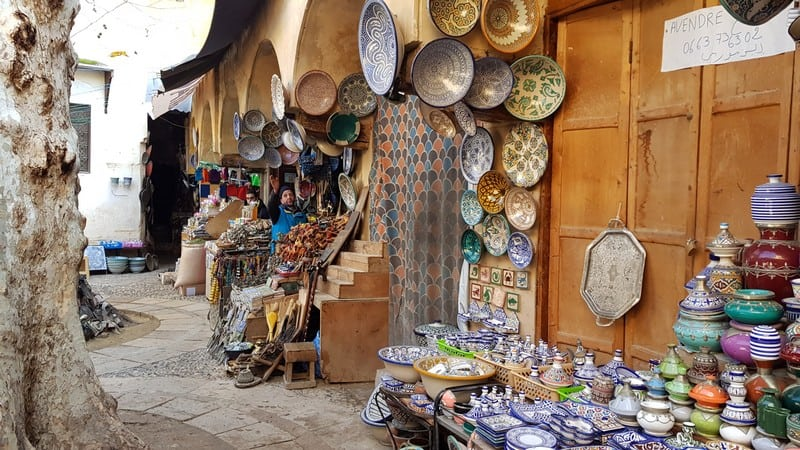 Tour of Fes medina: Pottery