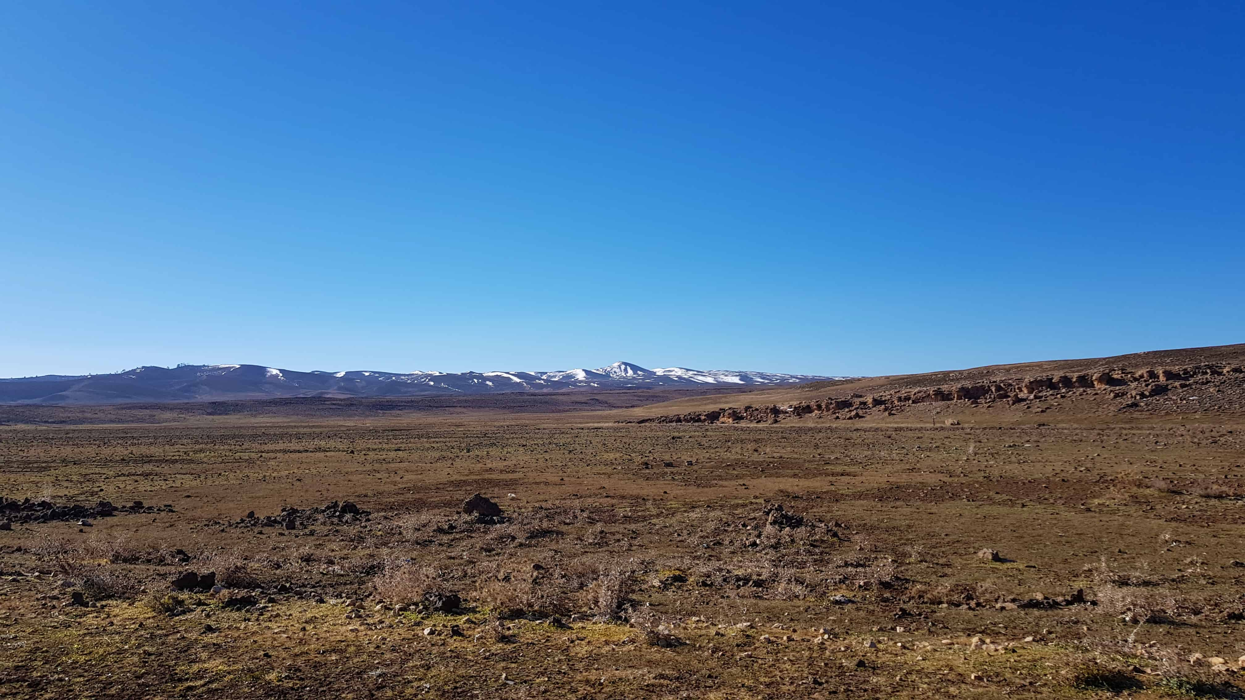 Middle Atlas to High Atlas: snow capped mountains