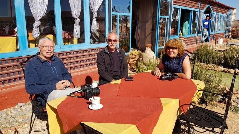 Azrou to Ziz Gorge: Coffees at the Cafe outside Zaida