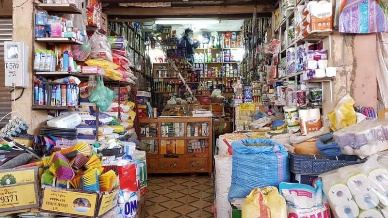 Errachidia market: jam packed store