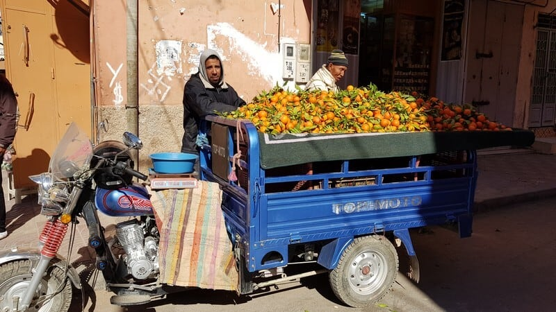 Errachidia market - oranges
