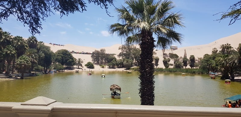 Paddle boats in Huacachina Peru