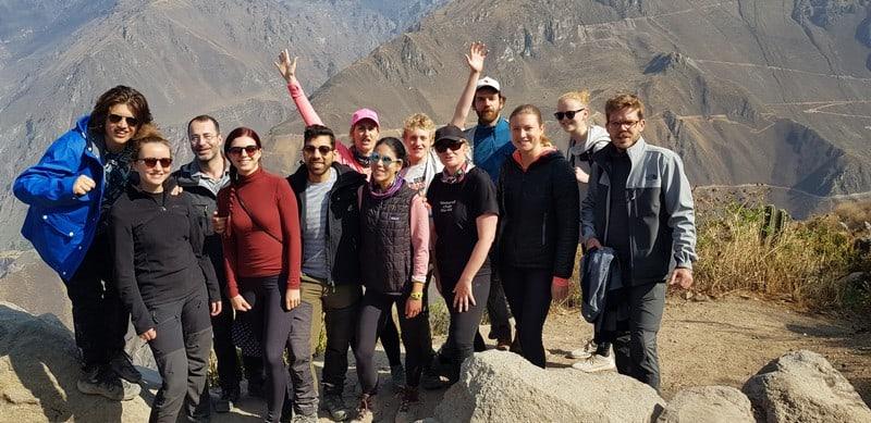 Colca Canyon tur group