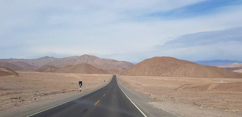 Roadtrip from Tacna in Peru to Arica in Chile