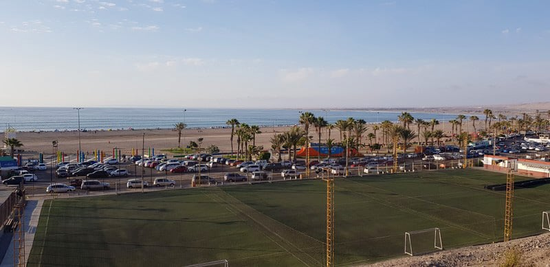 The beachfront in Arica in Northern Chile